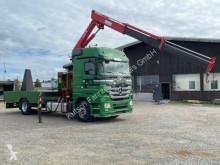 Camion porte engins Mercedes Actros 1844L Actros MP3 Traktorentransporter + Kran MKG