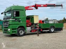 Camión Mercedes Actros 1844L Actros MP3 Plateau/Transporter + Kran portamáquinas usado