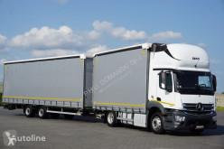 Camión MERCEDES-BENZ ANTOS / 1840 / ACC / E 6 / ZESTAW 120 M3 / 39 PALET / ŁAD. 21 + remorque rideaux coulissants lonas deslizantes (PLFD) usado