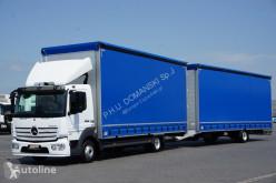 Камион MERCEDES-BENZ ATEGO / 821/ ACC / EURO 6 / ZESTAW PRZESTRZENNY 120 M3 / JAK NOW + remorque rideaux coulissants подвижни завеси втора употреба