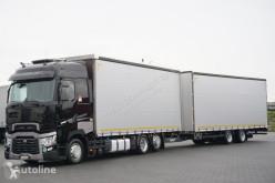 Ciężarówka Renault T 480 / ACC / EURO 6 / ZESTAW PRZEJAZDOWY 120 M3, + remorque rideaux coulissants firanka używana