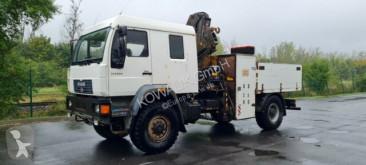 Caminhões estrado / caixa aberta caixa aberta MAN L 90 L90 DOKA Pritsche mit Kran - Service Truck