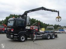Ciężarówka MAN TGS TG-S 26.400 6x4 Abrollkipper mit Kran Hydr. Kabine wywrotka używana