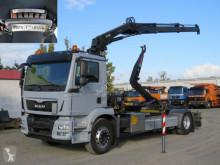 Ciężarówka Hakowiec MAN TGM TG-M 18.340 4x2 Abrollkipper mit Kran Funk