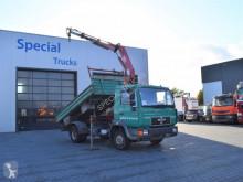 Ciężarówka MAN 10.224 3 way Meiller kipper + HMF683-K2 wywrotka używana