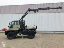 Unimog plató teherautó U 400 405/12 4x4 U 400 405/12 4x4,Kran Hiab,Funk,2x Seilwinde