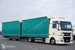 Camión lonas deslizantes (PLFD) MAN TGX / 18.420 / ACC / E 6 / ZESTAW 120 M3 / RETARDER / ŁAD. 13 46 + remorque rideaux coulissants