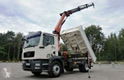 Lastbil ske MAN TGM 18.250 Palfinger PK 12001 Crane Kipper