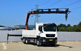 Camión MAN TGS 26.440 Pritsche 6,40 + PK26002/FUNK / 6x4H-2 caja abierta usado