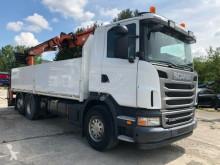 Caminhões estrado / caixa aberta caixa aberta Scania G 440 Baustoff Atlas Kran 170-2V-A12 Zange Lenkach