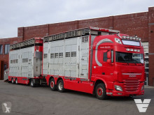 Camion remorque bétaillère bovins DAF XF 510