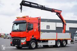 Camión Palfinger RENAULT T 460 / E 6 / SKRZYNIOWY + HDS / PK1 18002 / WYSIĘG 1 caja abierta usado
