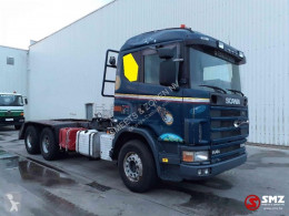 Ciężarówka Scania 144 530 lames/meca platforma używana