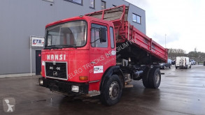 Camion benne MAN 19.291 (BIG AXLES / STEEL SUSPENSION / 6 CYLINDER ENGINE WITH MANUAL PUMP)