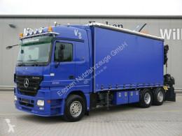 Camión Mercedes Actros 2550 LL*HIAB 422 E-8 HIPRO*Winde*1.Hand lona corredera (tautliner) usado
