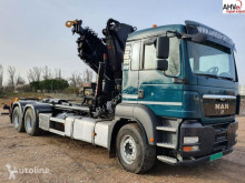 Camión MAN 440 6x2 GANCHO MULTILIFT + HIAB 322 Gancho portacontenedor usado