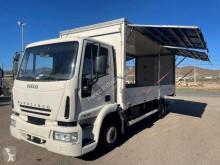 شاحنة Iveco Eurocargo 120 E 24 عربة مقفلة حاجز صلب قابل للثني مستعمل
