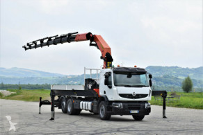 Renault plató teherautó Premium 430 DXI Pritsche 6,20m + Kran/Funk