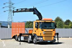 Camión de asistencia en ctra Scania R420 Abschleppwagen 7,70m + FASSI F300.24/FUNK