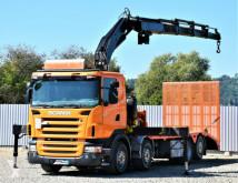 Ciężarówka do transportu samochodów Scania R420 Abschleppwagen 7,70m + FASSI F300.24/FUNK