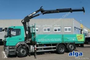شاحنة منصة حواجز الحاوية Mercedes Axor 2529 L Axor 6x2, Kran Hiab 125-2, Liftachse, AHK