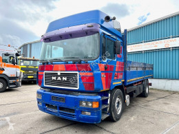 Camion plateau MAN 19.422 XT FULL STEEL SUSPENSION WITH (TENT) BOX (EURO 2 / ZF16 MANUAL GEARBOX / REDUCTION AXLE / FULL STEEL SUSPENSION)