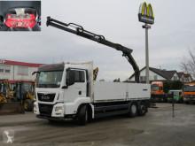 Camión caja abierta teleros MAN TGS TG-S 6x2-2 BL Pritsche Heckkran Euro6, PK 16001-R
