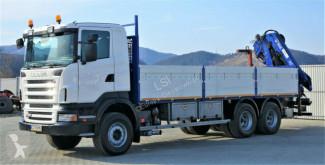 Voir les photos Camion Scania R420 Pritsche 7,30m +Kran/FUNK *6x4*Topzustand!