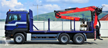 Voir les photos Camion MAN TGA 33.440 Holztransporter + Kran Topzustand 6x4