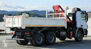 Voir les photos Camion Mercedes Actros 3336 Kipper 4,60m+Kran/FUNK Topzustand!
