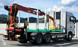 Voir les photos Camion MAN TGX 33.540 Holztransporter + Kran Topzustand 6x4