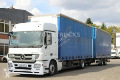 Mercedes tautliner trailer truck