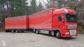 Used tautliner trailer truck DAF XF105 460