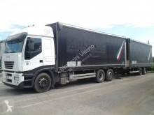Camion remorque savoyarde système bâchage coulissant occasion Iveco Stralis 260 S 43