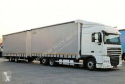 kamion s návěsem posuvné závěsy DAF