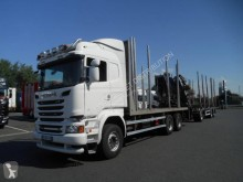 Scania R 730 trailer truck used timber
