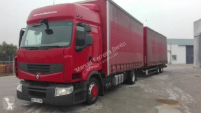 Lastbil med släp skjutbara ridåer (flexibla skjutbara sidoväggar) Renault Premium