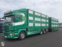شاحنة مقطورة Scania R 520 ناقلة مواشي مستعمل