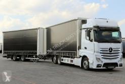 camion remorque Mercedes ACTROS 2545/ JUMBO 120 M3/VEHICULAR/ DOPPELSTOCK