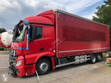 Mercedes Actros 2543 trailer truck damaged tautliner