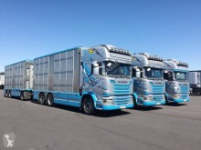 Camion cu remorca transport animale second-hand Scania R 580