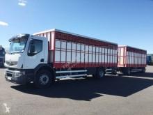 Lastbil med släp Renault Premium Lander 410 DXI boskapstransportvagn begagnad
