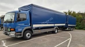 Camião reboque caixa aberta com lona sistema tecto deslizante usado Mercedes Atego 1223