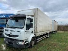 Lastbil med släp Renault 44A Pritsche Plane Jumbo skjutbara ridåer (flexibla skjutbara sidoväggar) begagnad