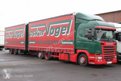 Lastbil med släp Scania G 410 Jumbozu Lenkachse Retarder Edscha skjutbara ridåer (flexibla skjutbara sidoväggar) begagnad