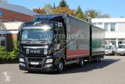 Lastbil med anhænger glidende gardiner MAN TGX 18.440 E6 Retarder/Durchla/Anhänger 2018/ACC
