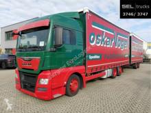 Lastbil med anhænger MAN TGX 24.400 6x2-4 LL-U/Lenkachse/Hubd./Int./komp glidende gardiner brugt