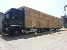 Mercedes straw carrier flatbed trailer truck Actros 2545