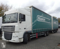 Camion remorque rideaux coulissants (plsc) DAF XF460 Intarder + Anhänger