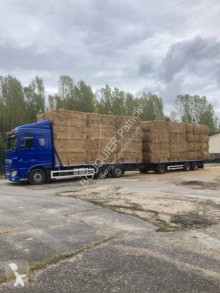 DAF XF105 510 trailer truck used straw carrier flatbed